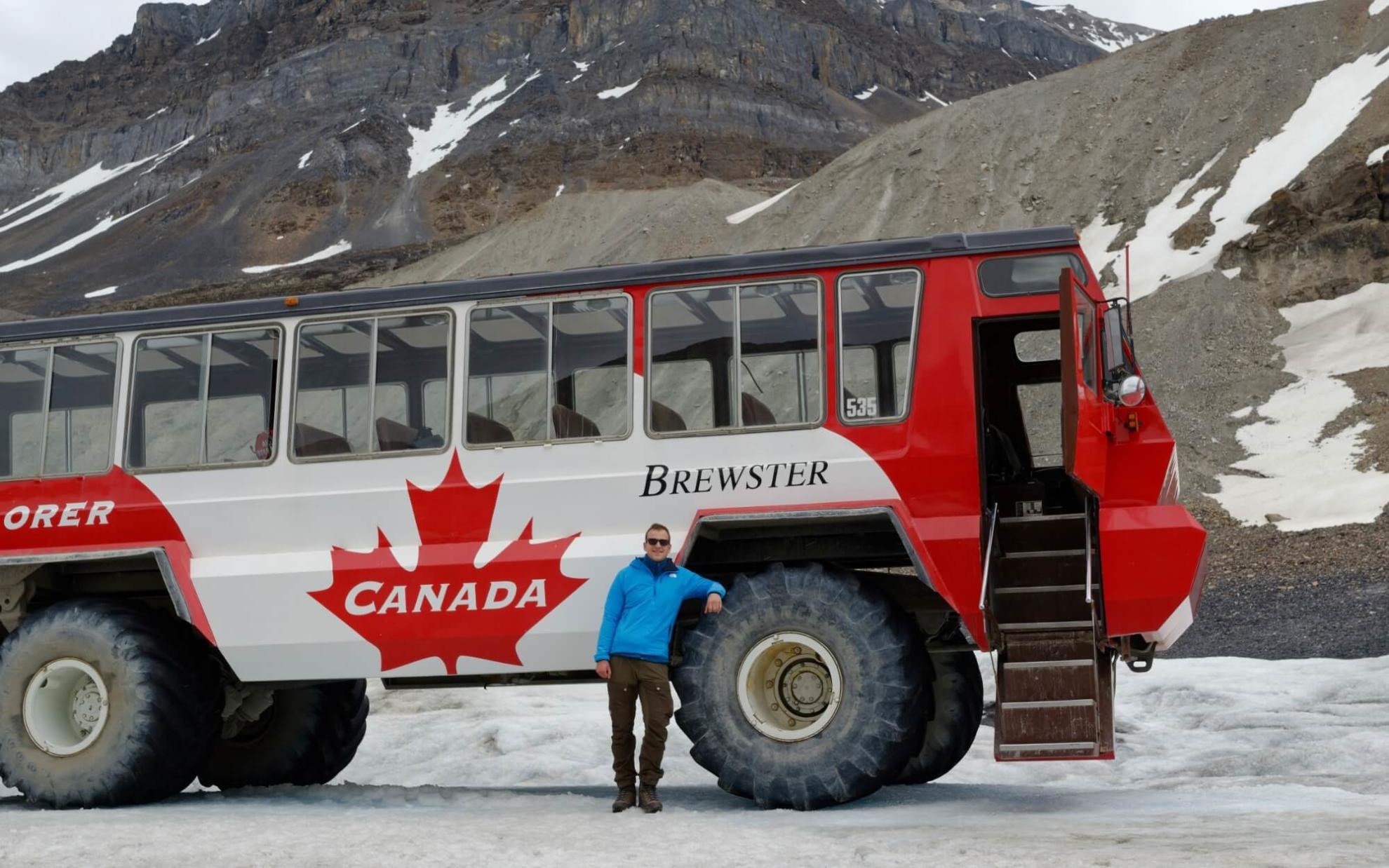 Besichtigung des Athabasca-Gletschers in den Rocky Mountains