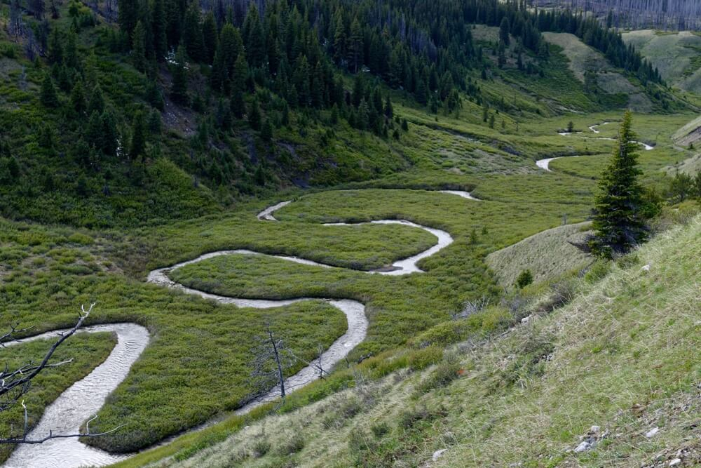 Der Wigmore Creek im Cascade Valley