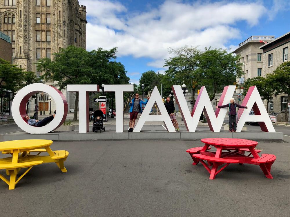 Mit dem Besuch aus Deutschland in Ottawa