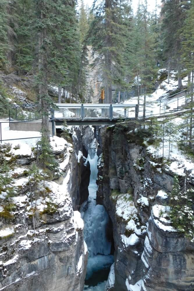 Der Maligne-Canyon im Jasper-Nationalpark