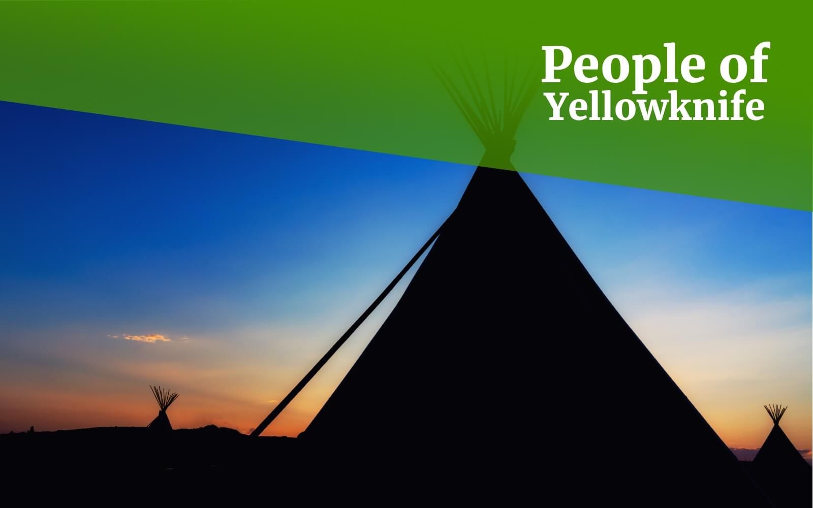 The image shows a teepee during sunset