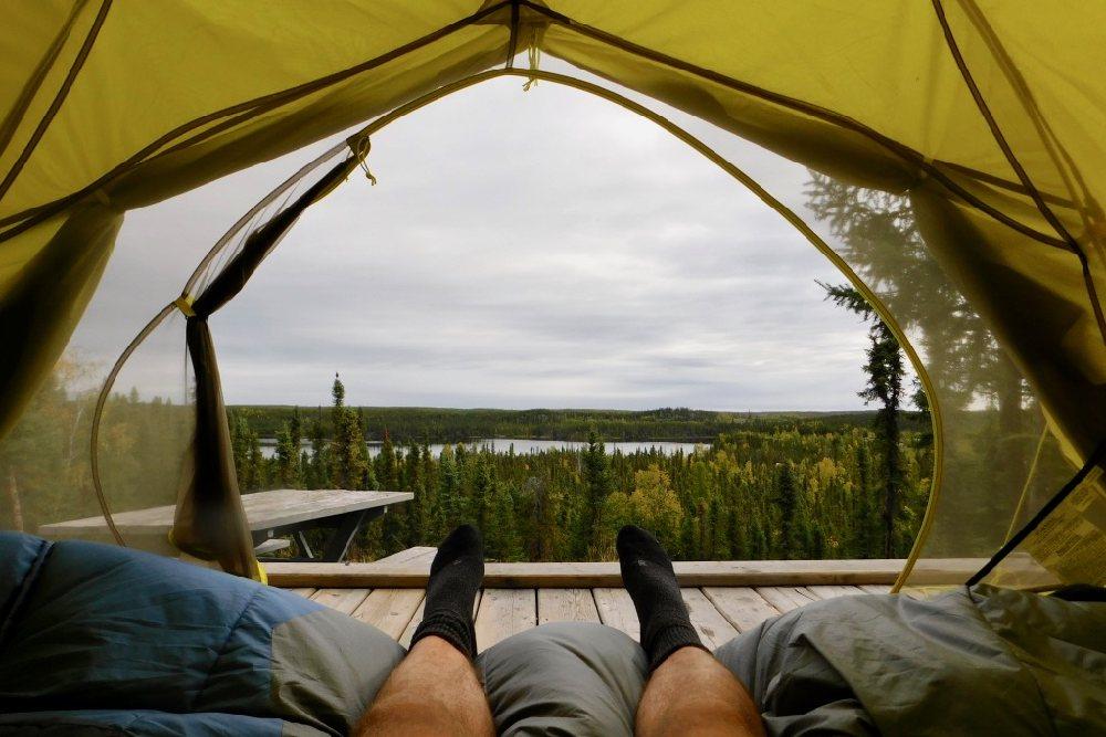 Zelten im Reid Lake Territorial Park